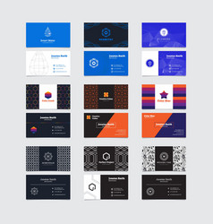 Set of minimalistic business card templates vector image