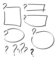 Set of question mark vector