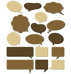 Sixteen wooden labels vector
