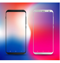 Smartphone mockups transparent screen vector
