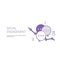 social engagement web banner with copy space vector image
