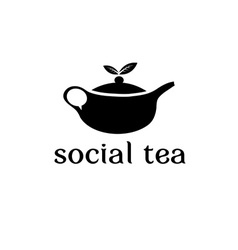 Social tea concept design template vector