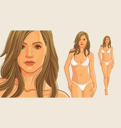Summer girl wearing bikini vector