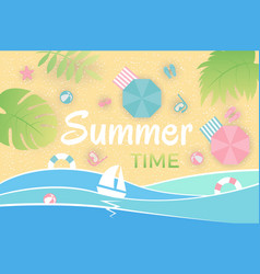 summer landscape aerial view beach vector image