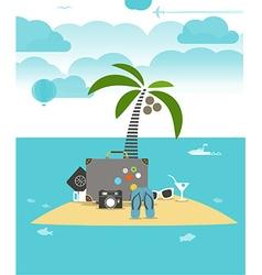 Summer seaside vacation flat vector