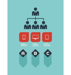Technology Infographic Element vector image