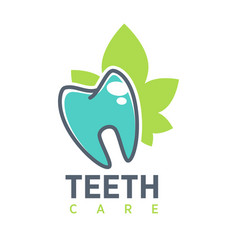 Tooth logo template for dentistry or dental vector