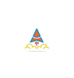 Triangle rocket logo vector