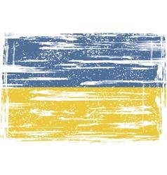 Ukrainian grunge flag vector