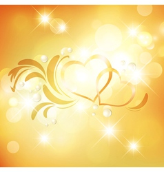 Valentine Golden Background vector image