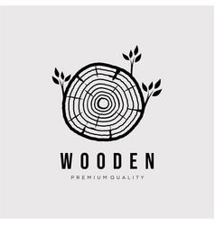 Vintage wooden moldy logo design carpentry vector
