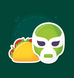 Viva mexico design vector