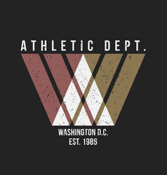 washington typography for t-shirt print athletic vector image