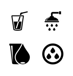 water drop aqua liquid simple related icons vector image