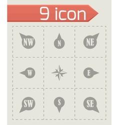 wild rose icon set vector image