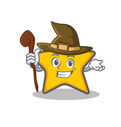 witch star character cartoon style vector image