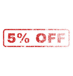 5 percent off rubber stamp vector image