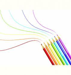 coloured pencils rainbow vector image