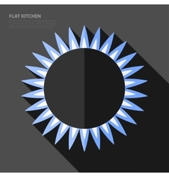 flat gas burner icon vector image