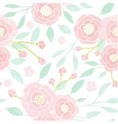pastel peony background vector image vector image