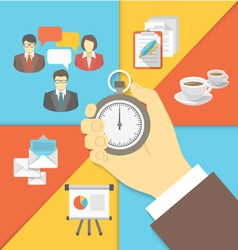 Time Management Business Concept vector image vector image