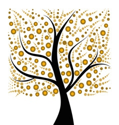 beautiful art tree isolated on white background vector image vector image