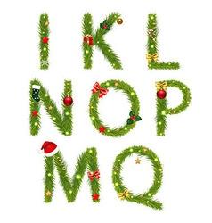 Christmas Alphabe vector image
