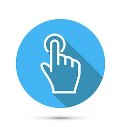 Flat Social icon hand touch vector image