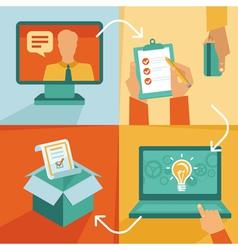 freelance work progress vector image