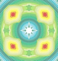 round rainbow ornament vector image
