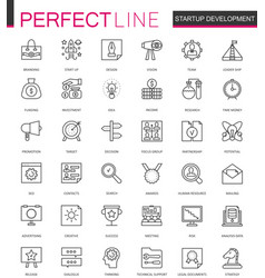 start-up and development thin line web icons set vector image vector image
