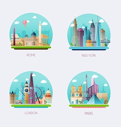 Time to travel Travel to World Tourism of vector image vector image