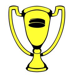 gold shiny trophy cup award icon icon cartoon vector image