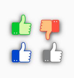 thumb up and thumb down vector image vector image