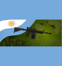 argentina military power army defense industry war vector image vector image