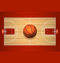 Basketball court floor top view vector image