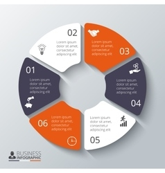 circle element for infographic vector image vector image