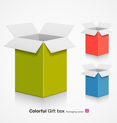 Colorful gift box vector image vector image