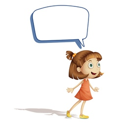 Girl and call out vector image vector image