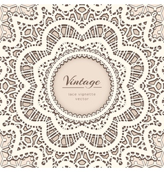 Old lace background vector image vector image