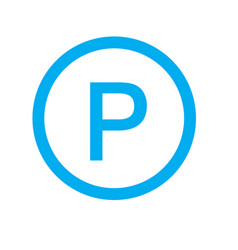 parking icon on white background parking sign vector image vector image