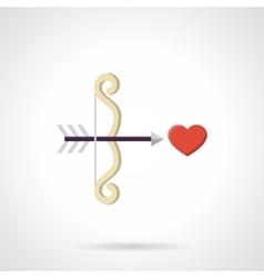 Symbol of love flat color icon vector image