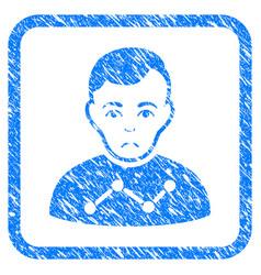 User stats framed stamp vector
