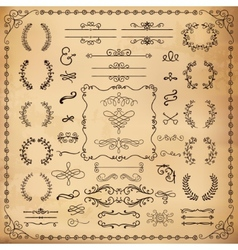 Vintage Hand Drawn Design Elements vector image vector image