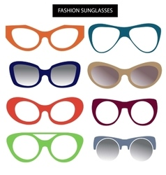 A set of fashion sunglasses and frames Cats Eye vector