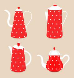 Abstract logo for ceramic teapot vector