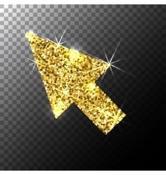 arrow cursorGold glitter icon web sparkles vector image