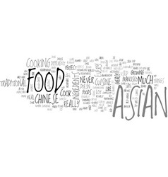 asian food text background word cloud concept vector image