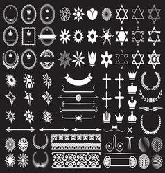 big set design elements resize vector image