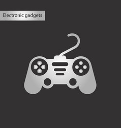 black and white style icon game joystick vector image